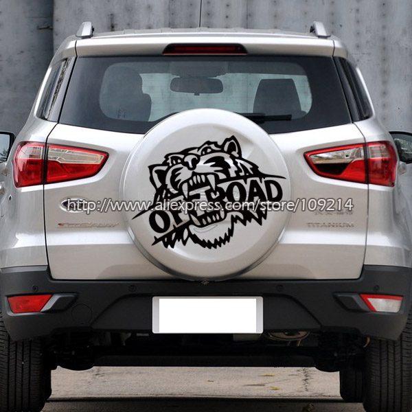 Tiger OFF ROAD F150 SUV 4WD 4X4 FOUR WHEEL SPARE TIRE COVER  Decal Stickers Waterproof T04 baja 5b ii front wheel off road tire assembly