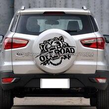 Tiger hors route F150 SUV 4WD 4X4 quatre roues de secours pneu couverture décalcomanie autocollants étanche T04