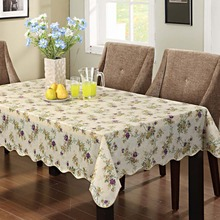 Waterproof & Oilproof Wipe Clean Flannel backed Vinyl Tablecloth Dining Kitchen Cover Protector