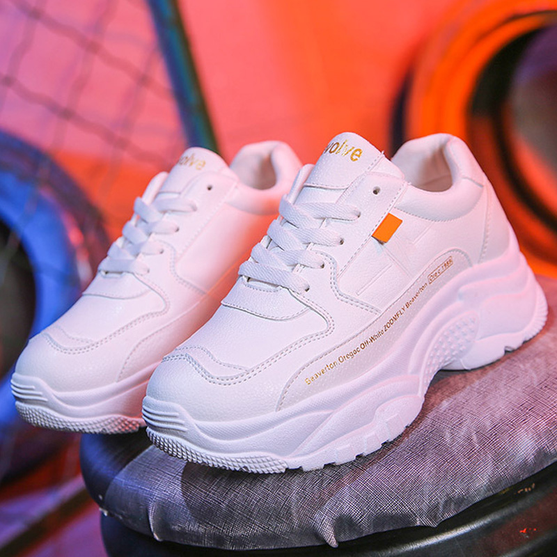 Chunky Sneakers New Women Vulcanize Shoes Comfort Women Shoes Slip-on Women Sneakers Platform Women Flats Sneakers Shoes