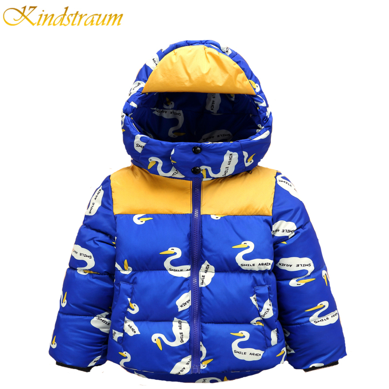 Kindstraum 2017 New Winter Baby Boys Printed Casual Duck Down Jacket High Quality Thick Outwear Warm Cloth Coat For Kids,MC108 kindstraum 2017 new kids winter warm jacket hooded for boys