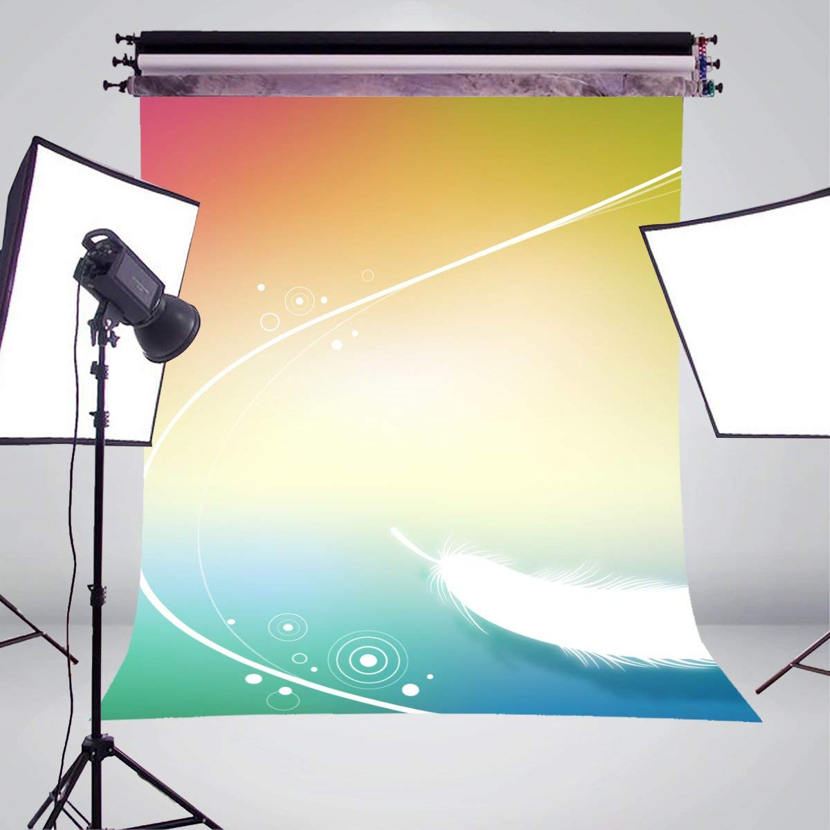 Image 3 - Exquisite Fluffy White Feather Background Photography Colorful Backdrops for Picture Kids Photo Studio Background 5x7ft-in Photo Studio Accessories from Consumer Electronics