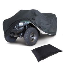 Quad Bike ATV Cover Black Water Resistant Dustproof Anti-UV Car ATV Kart Cover 3 Size Optional 190T Motorcycle Waterproof Cover cheap Car Covers 1 2m COCHETOP 1 1m for ATV 2 56m Polyester 587kg