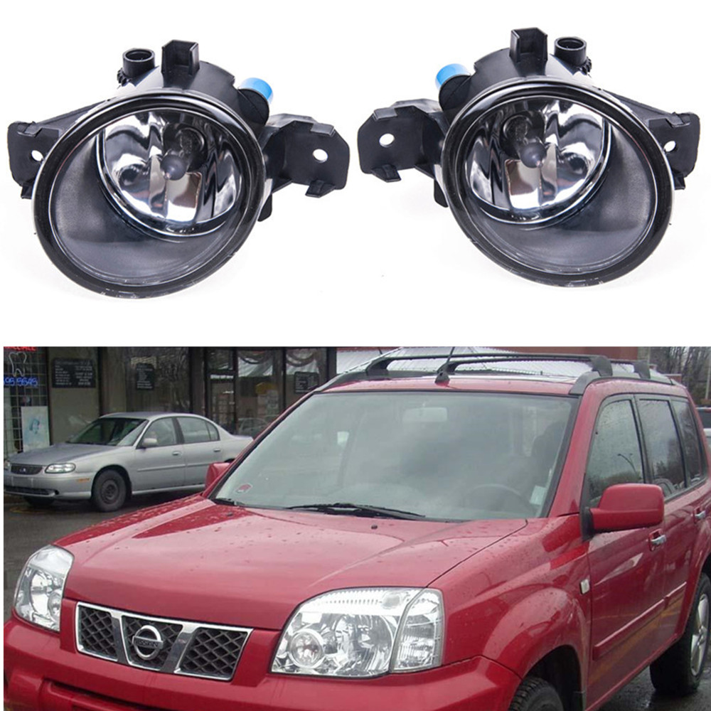 For nissan X-TRAIL (T30) 2001-2006 Car styling Fog Lamps 55W halogen Lights 1SET for nissan x trail t30 2001 2006 car styling led light emitting diodes drl fog lamps