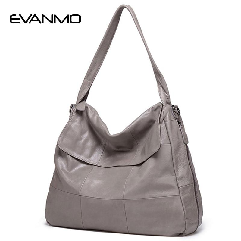 2018 Begrenzte Tasche Weiche Heiße Echtes Leder Frauen Hobos Handtasche Marke Plaid Design Einfach Stil Einkaufen Umhängetasche Beliebte