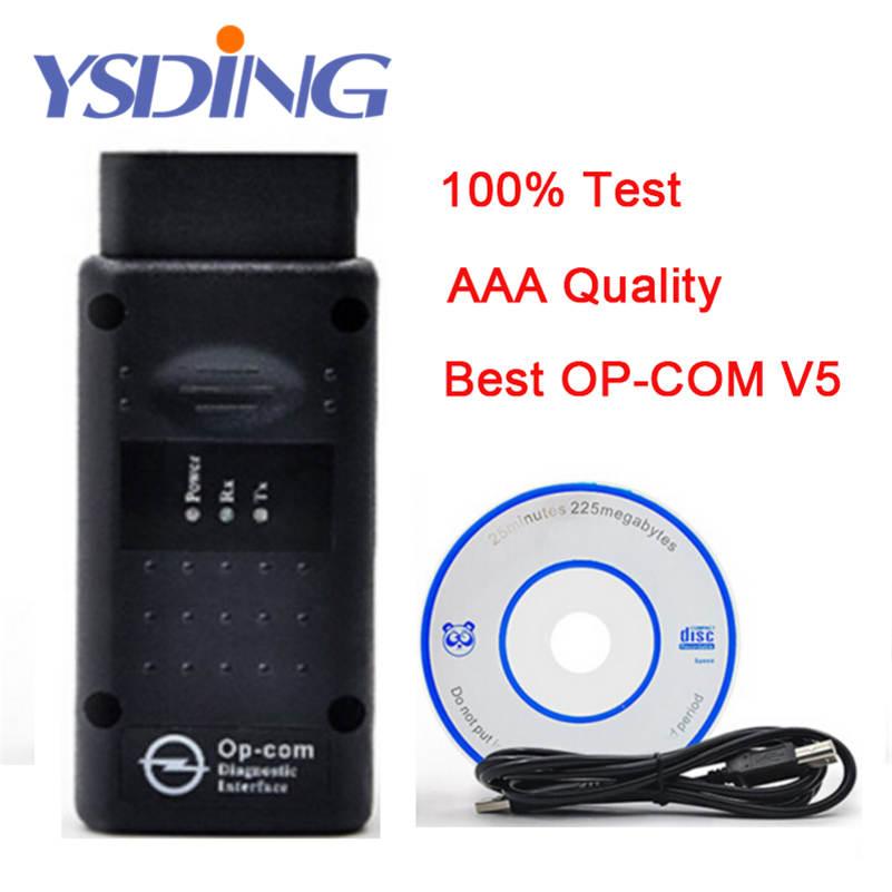 OPCOM V1.59 firmware A + + + qualité OP-COM V5 Pour Opel outil De Diagnostic OP COM v5 avec réel pic18f458 Puce OBD2 Scanner diagnostic