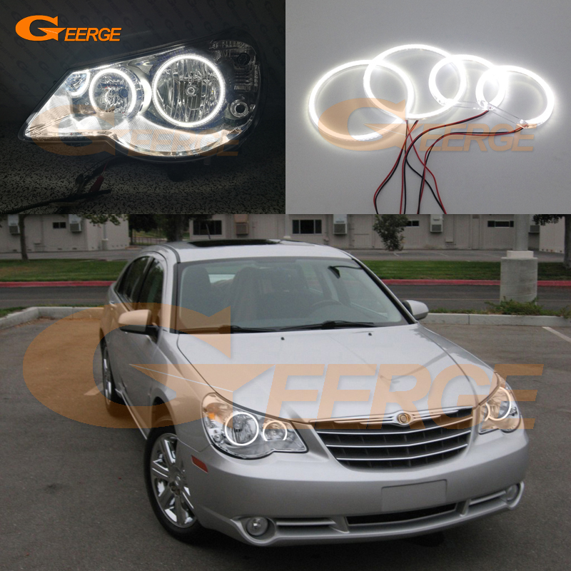 For Chrysler Sebring 2007 2008 2009 2010 Excellent angel eyes Ultra bright illumination smd led Angel Eyes kit Halo Rings