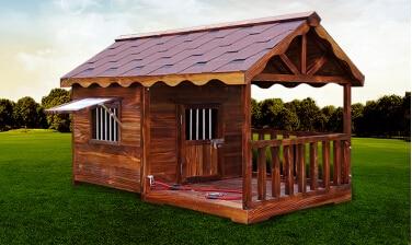 En 2015 el nuevo exterior casa de perro de madera de madera casa de perro perrera perrera del - Casas para perros pequenos ...