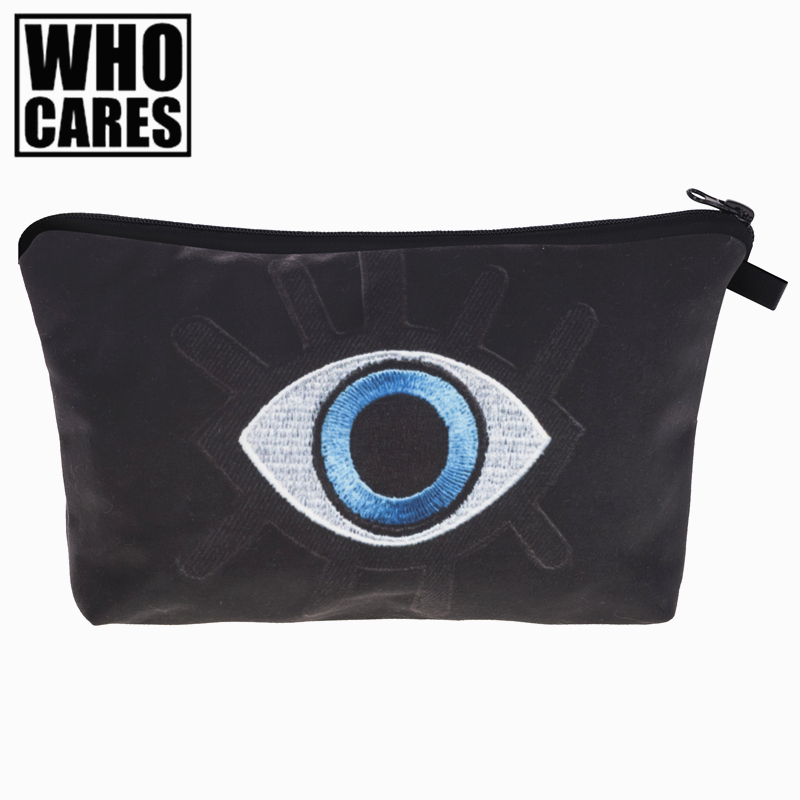 Eye Patch 3D Printing Women Cosmetics Bags trousse de toilette 2017 New neceser Organizer Maleta de Maquiagem vanity Makeup Bag