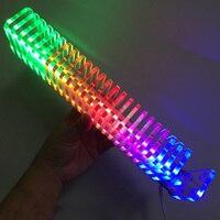 LEORY 25 PCS Crystal Board LED Music Spectrum Analyzer USB 3D LED Light Cube Kit Audio