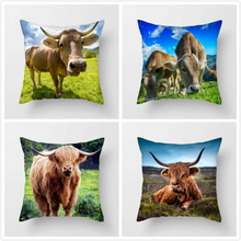 Fuwatacchi Spanish Bullfighting Throw Pillows Cover Cow Animal Cushion for Home Sofa Bedroom Decorative Pillowcases 2019