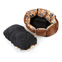 Paw Prints Imitation Fleece Dog Bed Cat Bed