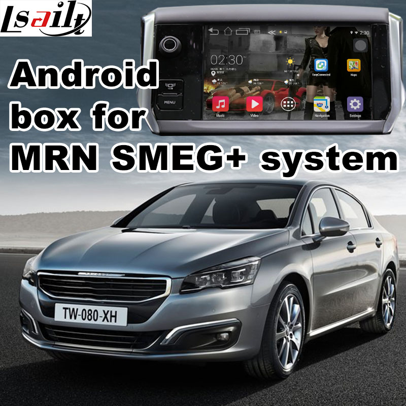 Android 6 0 GPS navigation box for Peugeot 508 MRN SMEG system video interface box with