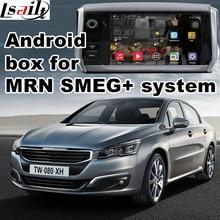 Android 6,0 gps навигация коробка для peugeot 508 мрн SMEG + система видео интерфейс коробка с Carplay youtube waze Яндекс navi