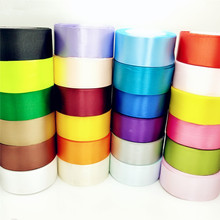 (5 yards/roll) 50mm 5CM Single Face Satin Ribbon Webbing Decoration Gift Christmas Ribbons Box Wrapping Belt DIY Crafts