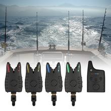 Lixada Wireless Fishing Bite Alarms Set Ocean Fishing Alarm Kit 1 Receiver+4 Alarms for Carp Fishing In Box Fishing Tackle Pesca
