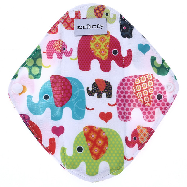 [simfamily]4Pc Oganic Bamboo Charcoal Panty Liner Healthy Material Inner Super Absorption Reusable Feminine higiene sanitary pad