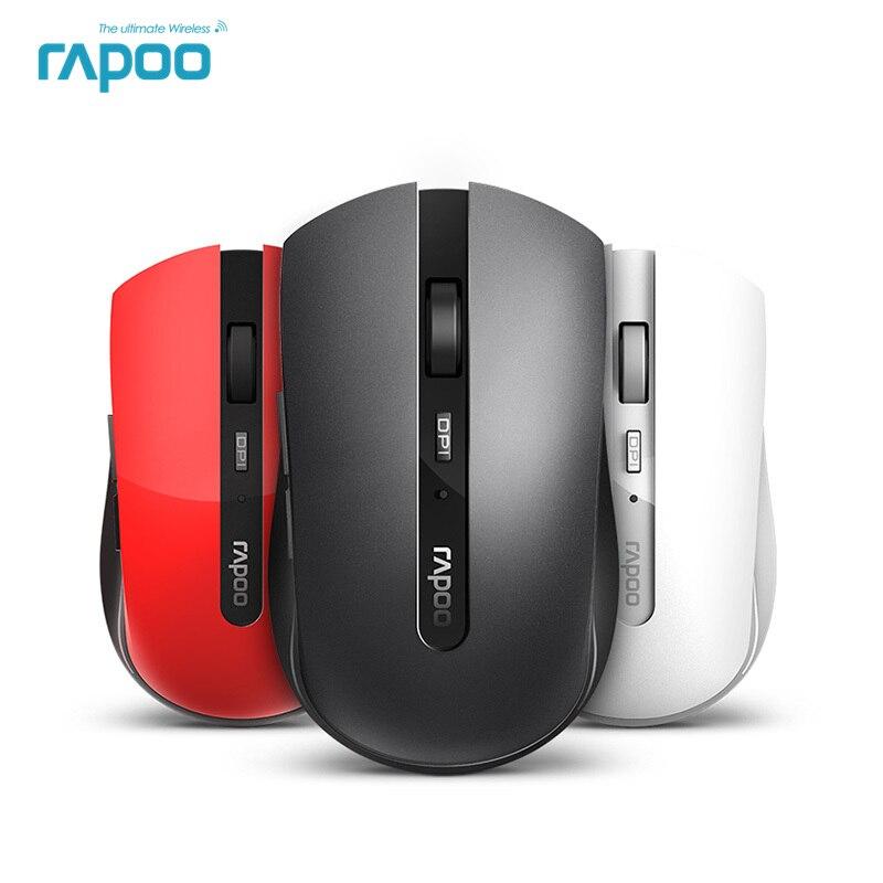 Nuovo Rapoo Noiseless Mouse Multi-modalità Silenzioso Mouse Senza Fili Del Mouse con 1600 dpi Bluetooth 3.0/4.0 RF 2.4 ghz per Tre Dispositivi di Connessione