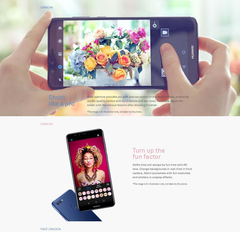 """Huawei Y9 2018 глобальной прошивки наслаждаться 8 плюс 4 ГБ 64 ГБ смартфон LTE 4000 мАч Батарея 5,93"""""""