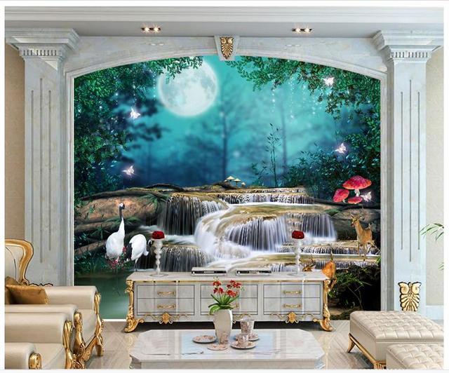 High end custom 3d photo wallpaper murals wall Beautiful fairy tale