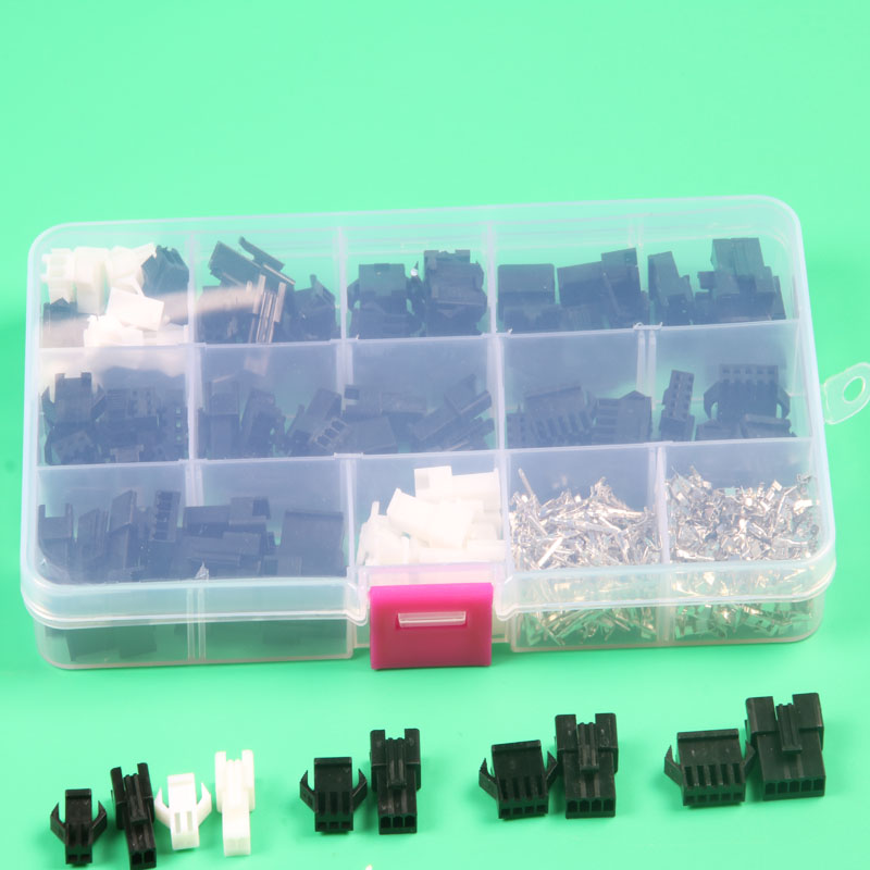 50sets sm 2.54mm connector 2p 3p 4pin 5 pin connector terminal with box housing pin header male female wire connector