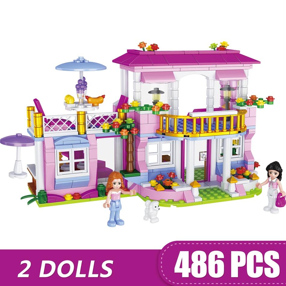 486PCS Small Building Blocks Compatible with Legoe City villa Toys
