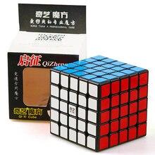 Cubo mágico neo qiyi qizheng 5x5x5 e 5x5, cubo qizhengs sem adesivo anti estresse 5 por 5 brinquedos para crianças