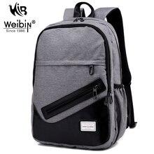 Weibin Men s Backpack Men Nylon Backpacks School Bags For Teenagers Casual 15 6 inch Laptop