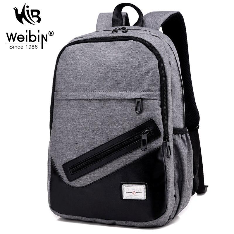 Weibin Men s font b Backpack b font Men Nylon font b Backpacks b font School