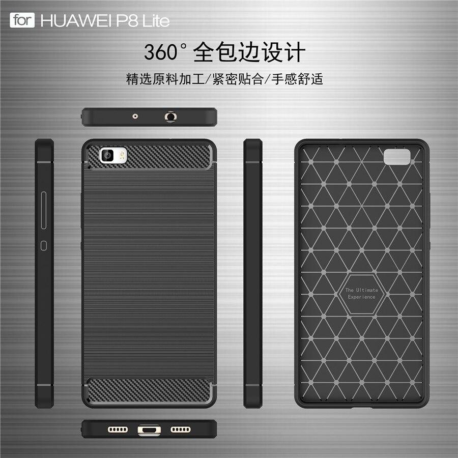 Untuk Huawei P8 Lite Kasus Kualitas Tinggi Lembut Silicon Kasus - Aksesori dan suku cadang ponsel - Foto 5