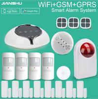 Newest Home Security GSM WIFI Alarm System Android IOS APP Control Simple To Use GSM WIFI
