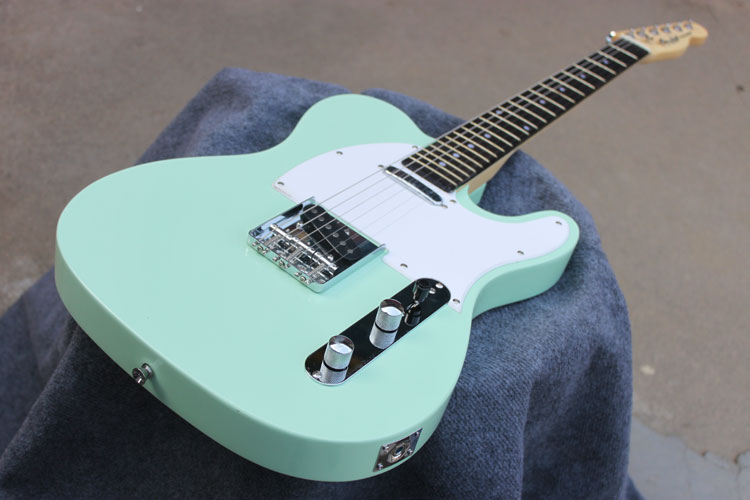 Best Price HOT ! TL Guitar High Quality Duck Egg Green Tele Electric Guitar Ameican Standard Free Shipping best price g standard les electric guitar lp deluxe paul guitar luxury finish mahogany guitar golden hardware free shipping