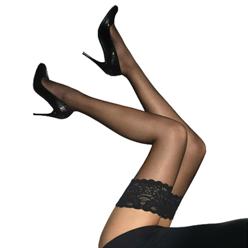 New Sexy Women Stockings Stylist Fashion Ladies Women Lace Nylon Stockings Stay Up Thigh High Stockings Nightclubs Pantyhose