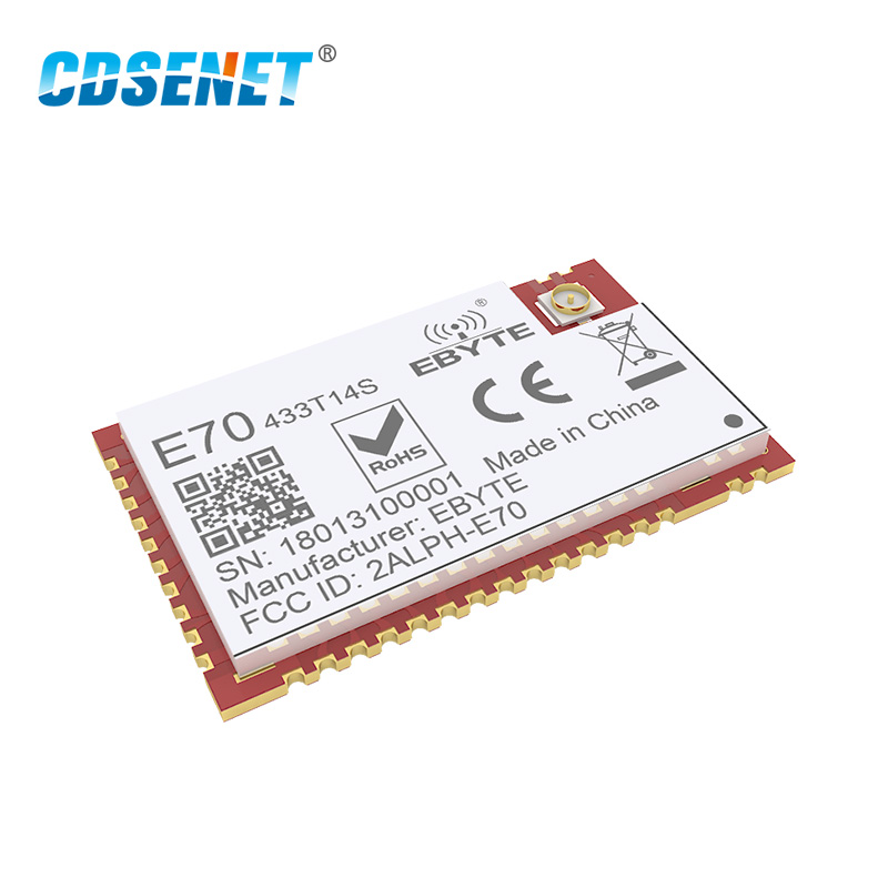 CC1310 433MHz Wireless rf Module CDSENET E70 433T14S SOC SMD IOT rf Transmitter Receiver 433 MHz Transceiver in Fixed Wireless Terminals from Cellphones Telecommunications