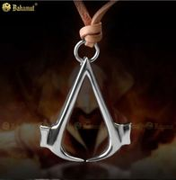 Assassins Creed 3 III Cosplay Costume Jewelry 925 Sterling Silver Necklace Pendant High Quality Jewelry Dropshipping