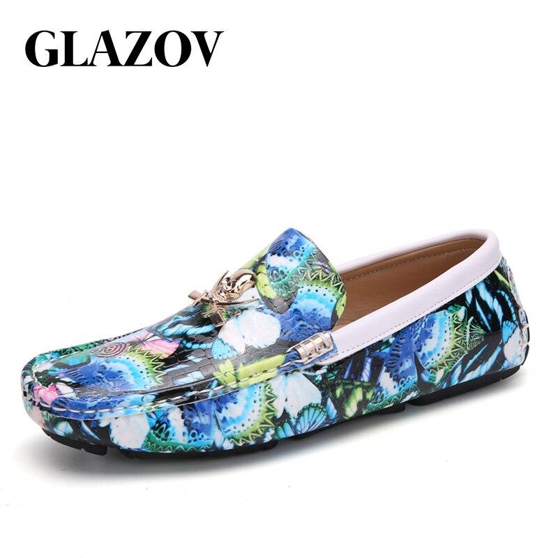 Home DemüTigen Glazov Wohnungen Schuhe Männer Müßiggänger Weichen Mokassins Hohe Qualität Echtes Leder Causual Schuhe Männer Gommino Schuhe Kühlen Müßiggänger