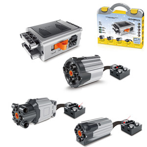 Image 2 - 81Pcs/Set Boxed Technic Electric PF Parts Medium XL Large Motor Extension Cord Steering with L*goes Alex Beam Gear Frame 64179