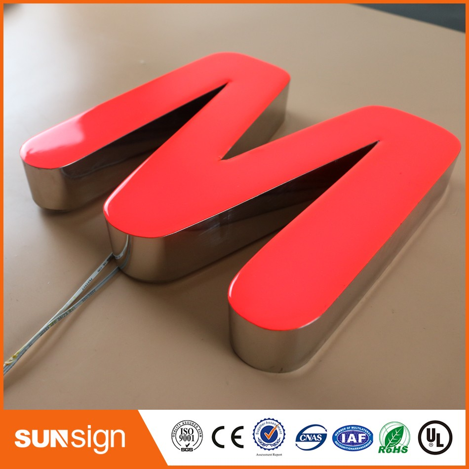 Custom Aliexpress Acrylic Front Lit Led Letter Resin Signs