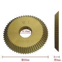 60 Tooth Titanium Key Cutter Blade For Key Machine Cutters Locksmith Tools