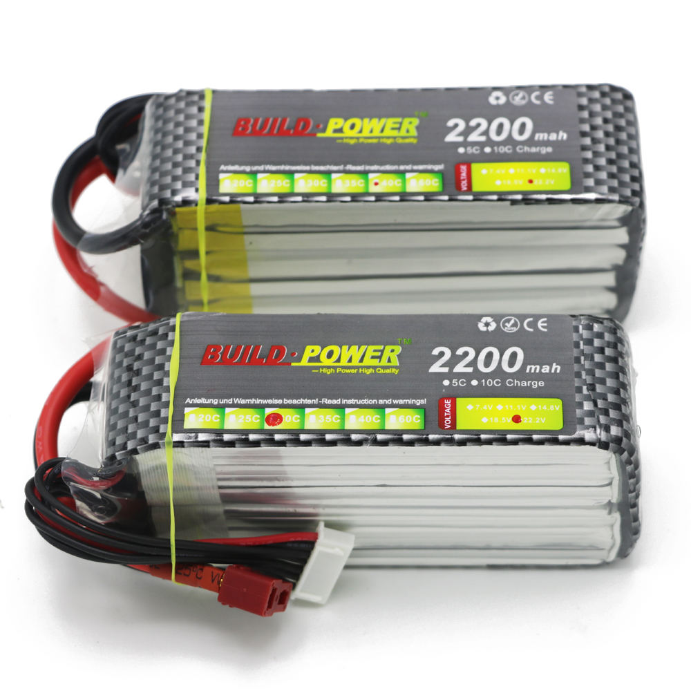 1pcs Build Power Li-Polymer 6S Lipo Battery 22.2V 1100mah 1300mah 1500mAh 1800mah 2200mah Max 60C for RC Car Boat Quadcopter build power li polymer lipo battery 7 4v 1100mah 1300mah 1500mah 1800mah 2200mah 2600mah max 40c for rc car boat quadcopter fpv