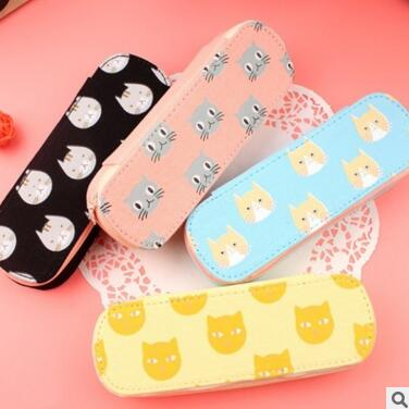 Cute Cats Canvas Pencil Case Stationery Storage Organizer Bag School Office Supply Escolar Papelaria цена 2017