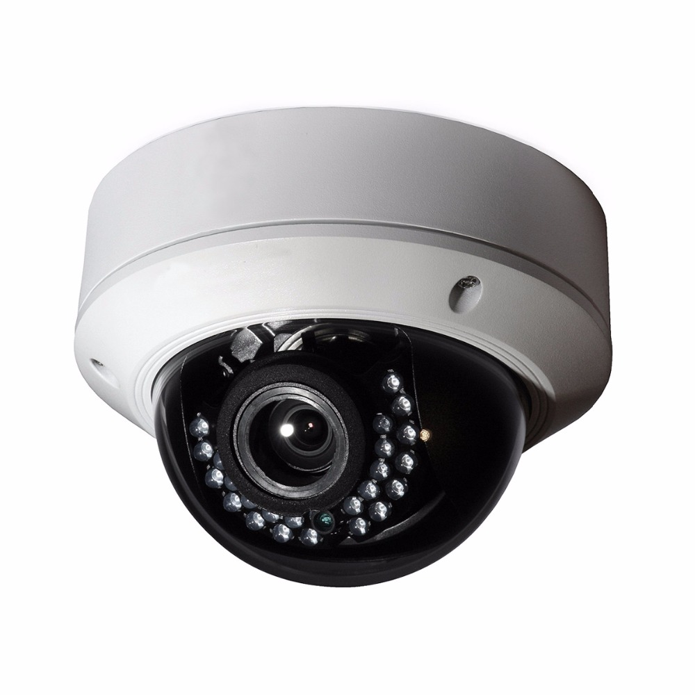 4mp IP Camera DS 2CD2745F IS Vari focus 2 8 12mm vandproof IR Dome With POE