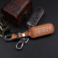 High-quality leather car keys cover 4 buttons for MAZDA 3/6 / MX-5 Miata (2009-2012) CX-7 / CX-9 (2010-2012) Fob housing cage