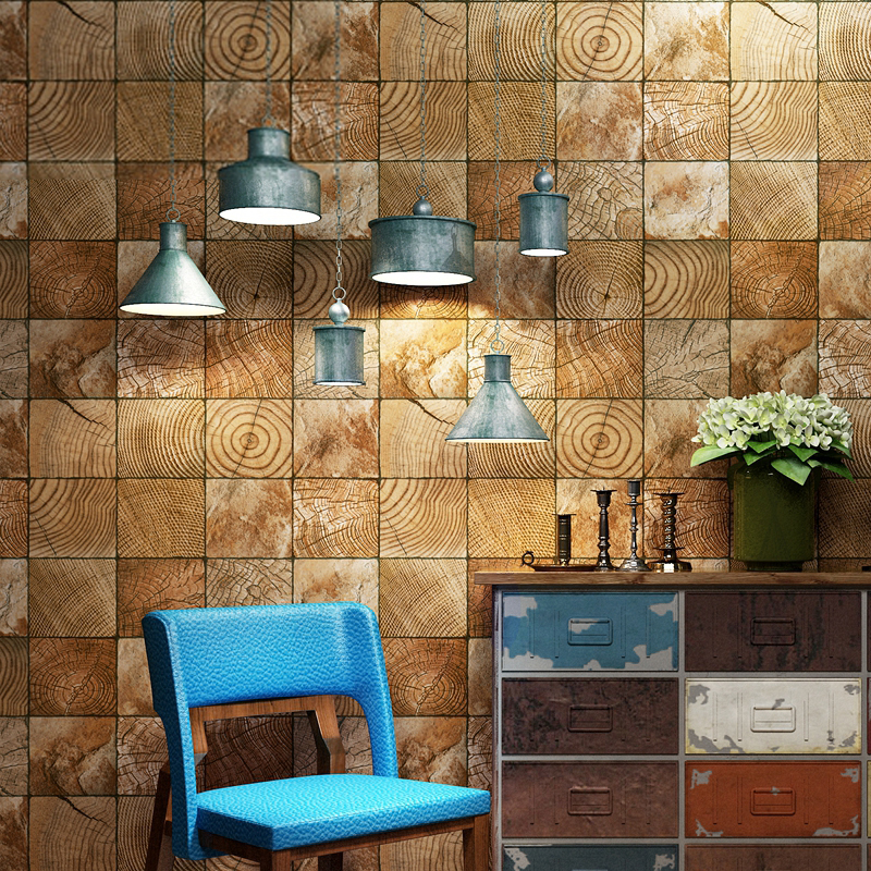 Modern Wallpaper For Wall 3 D Retro Personality Wood Grain Wallpaper Living Room Cafe Restaurant PVC Vinyl Brick Papel De ParedeModern Wallpaper For Wall 3 D Retro Personality Wood Grain Wallpaper Living Room Cafe Restaurant PVC Vinyl Brick Papel De Parede