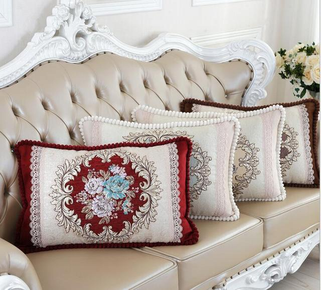 Clic Europe Cushion Covers High Quality Rectangle Throw Pillow Case Elegant Decorative Sofa Car