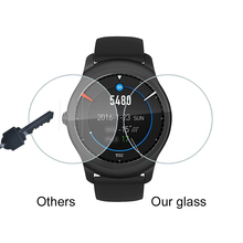 2Pack For Ticwatch 1st Smartwatch 9H 0.3mm 2.D Clear Tempered Glass Screen Protector Anti Scratch 2 S E