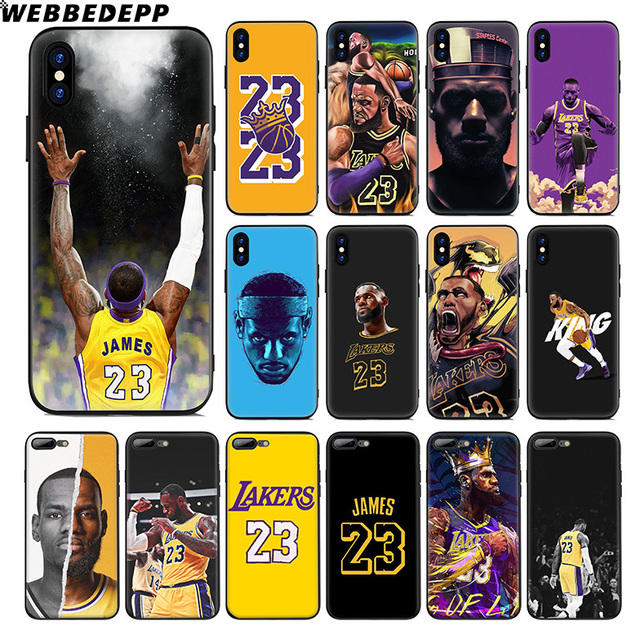 979e5399305159 WEBBEDEPP Lebron James 23 Lj Lakers Soft Silicone Case for Apple iPhone Xr Xs  Max X or 10 8 7 6 6S Plus 5 5S SE Phone Case