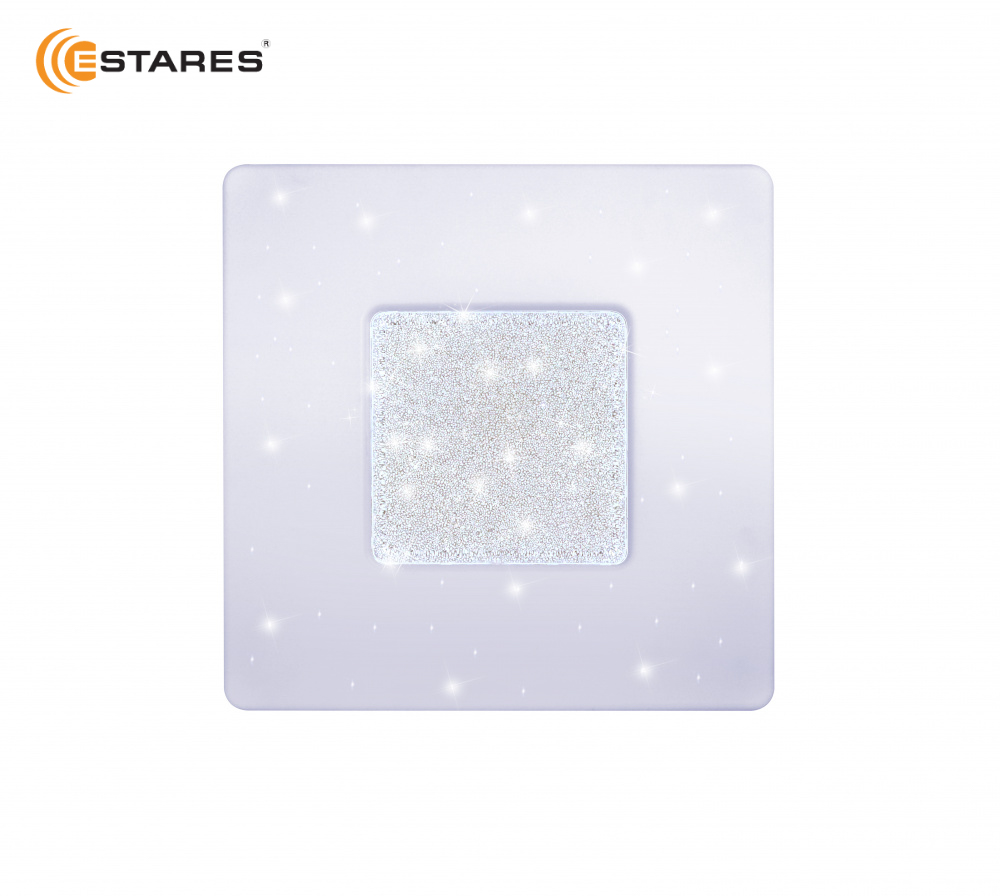 ESTARES Controlled LED lamp QUADRON SIYANIE 60W S-550-SHINY / CRISTAL-220V-IP44