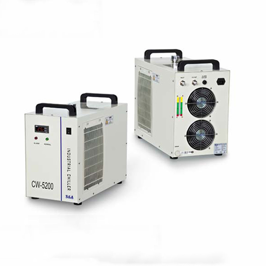 1 PC 220V  6L CW5200AH Laser water chiller  water chiller for laser tube Water-cooled  Industrial chillers ac220v water chiller cw3000 for laser tube spindles