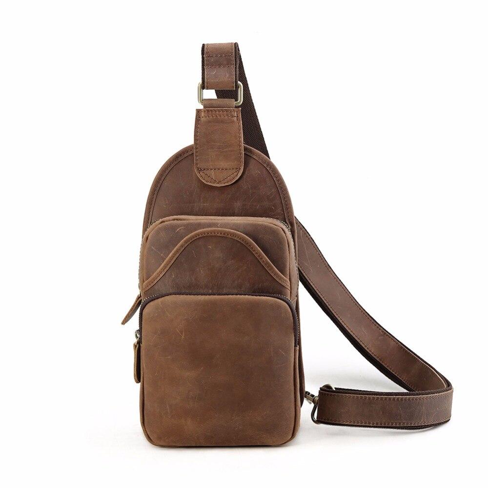 Tiding Vintage Leather Unbalance Backpack Men Shoulder Purse Cool Sling Chest Bag Simple Daypack 3163Tiding Vintage Leather Unbalance Backpack Men Shoulder Purse Cool Sling Chest Bag Simple Daypack 3163